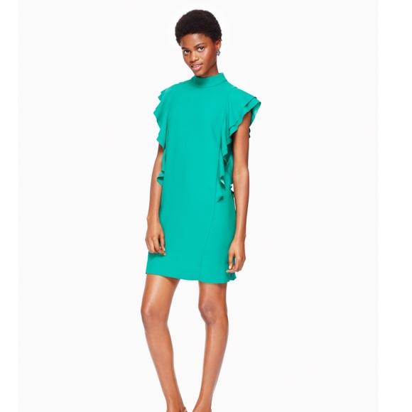 kate spade Dresses & Skirts - NWT KATE SPADE Satin Crepe Flutter Sleeve Dress